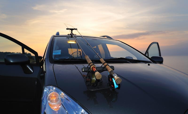 Ssdd is there life beyond fishing piscatorial for Fishing rod car rack