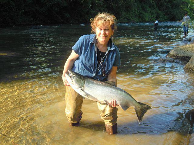 Fishing for summer steelhead at the siletz river for Siletz river fishing report