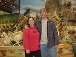 Bob & Fishgal at the wildlife mount exhibit at the Sydney, Nebraska Cabela's store.