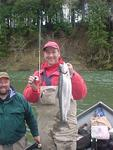 Bob claims second place in the OP's First Annual Snoopy Rod Classic with this hatchery steelhead.