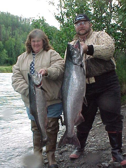A nice pair of July Kasilof kings.