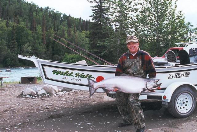 A 54 pund June Kasilof River chinook.