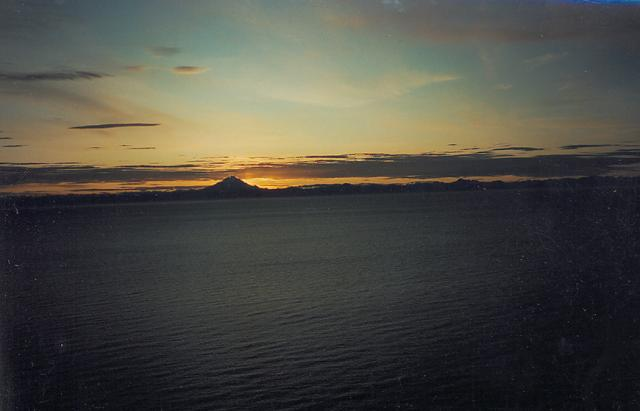 Mt. Redoubt again with an August sunset.