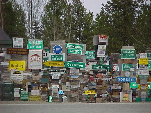 Driving north?? When on the AlCan Highway, make sure to visit the signpost forest in Watson Lake, Yukon.