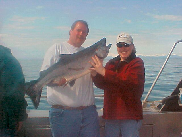 May combo (kings / halibut) fishing on Cook Inlet.