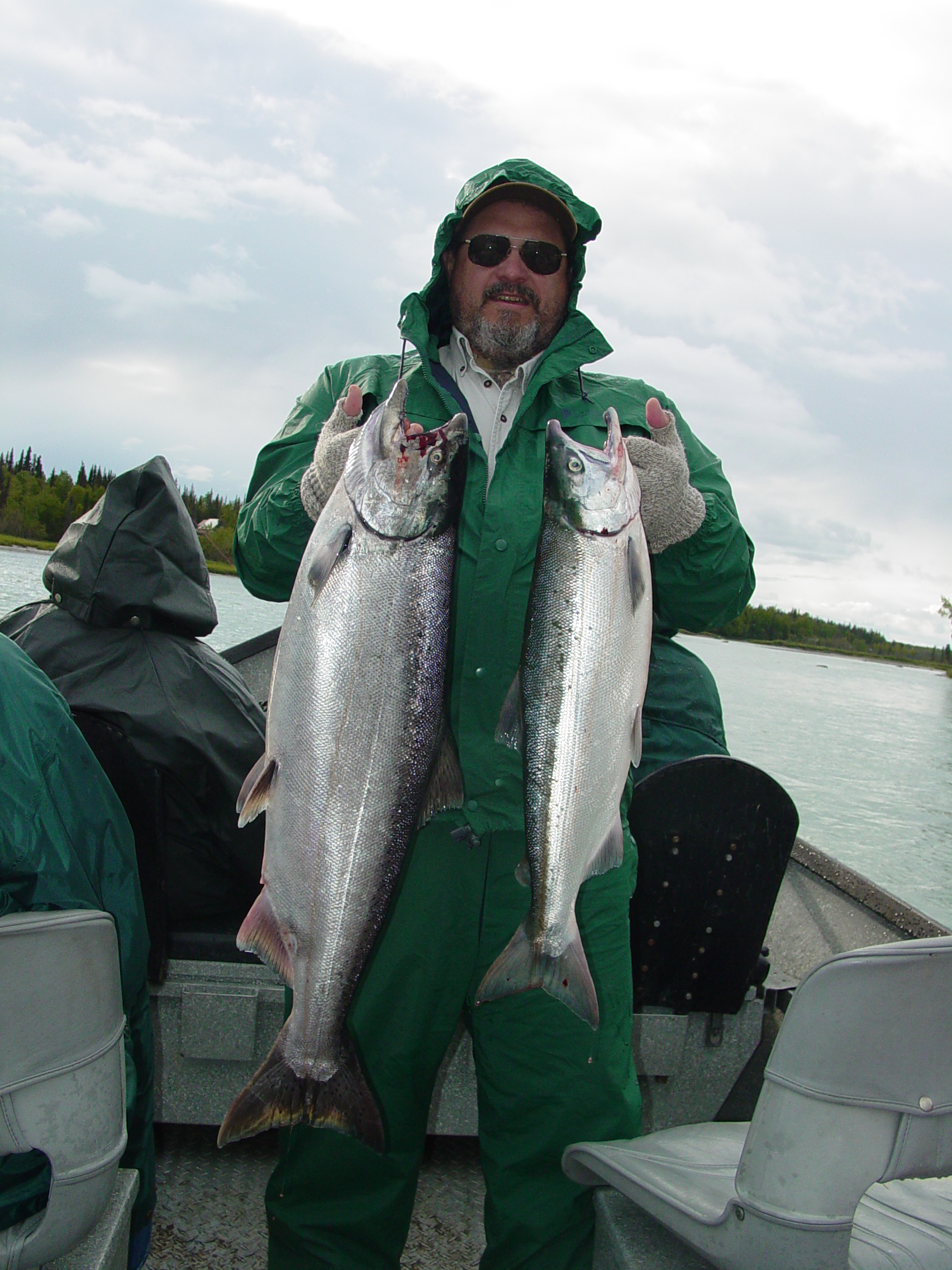 A nice June pair: a Kasilof king and a bonus sockeye!