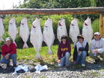 The Maxwells in '05 on their first day of halibut.