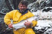 Ray with a Sol Duc steelie on a chilly day!