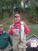Snoopy Rod Classic, year one's second place fish, a Bogachiel hatchery steelhead.