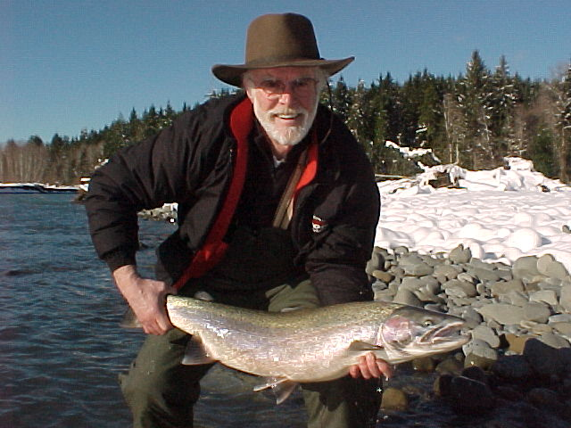 Snow, sunshine, snd steelhead ... that a perfect combination!