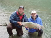 We're not quite sure who is wetter - Bob & Steve or the fish!