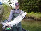Sol Duc springer on float & shrimp.