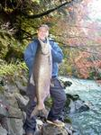 Michael with an October king from Washington's Olympic Peninsula.