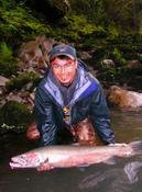 The Keen-eye-MD with his largest steelhead to date!