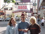 Corey with firends Jim & Shelli during an October visit to Reno.