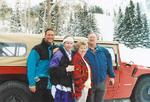 Bob, his brother Jon, and Mom and Dad at Sundance, Utah.