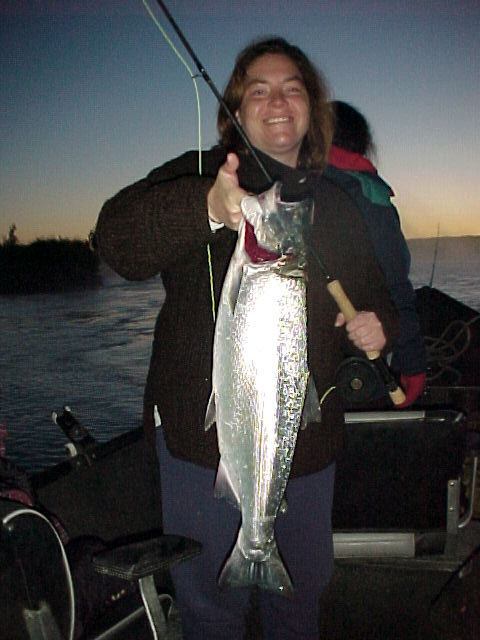Corey does the Kasilof ... snags a spare seat and brings us home a coho for a supper fish!